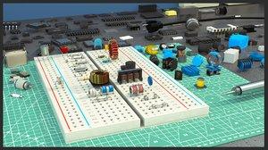 3D chip elements condenser