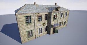 russian residential barrack 3D model