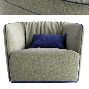 santa monica armchair poliform 3D model