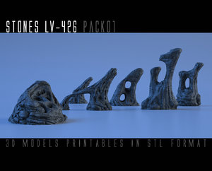 stones lv-426 pack01 printable 3D model