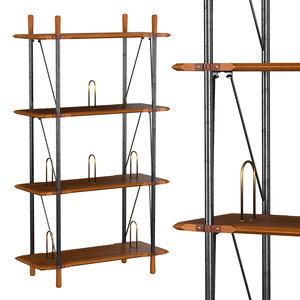 3D brandywine tall shelf