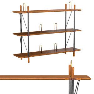 3D brandywine wide shelf model