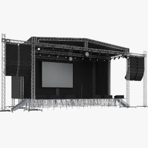 3D real concert stage model