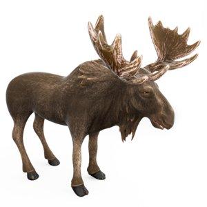 3D moose cartoon model