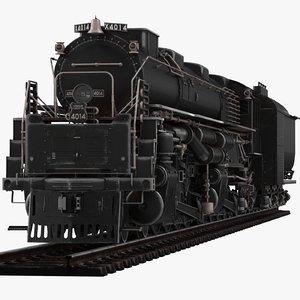 locomotive old 3D model