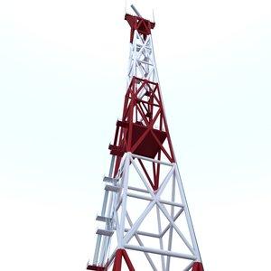3D locational radar tower model