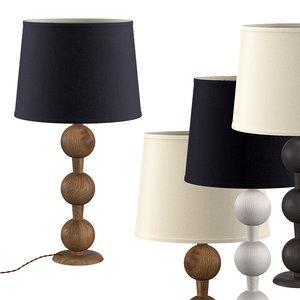 hugo barbell table lamp 3D model