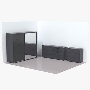 3D wardrobe dresser
