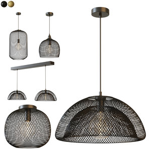 pendant lights metal mesh 3D model