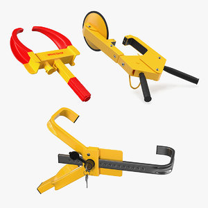 3D anti theft lock clamps