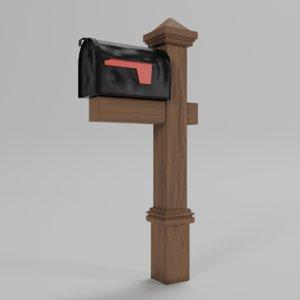 3D mailbox asset
