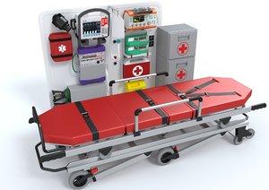 ambulatory equipment stretcher model
