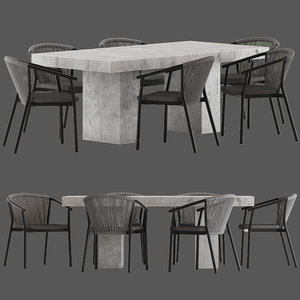 coco republic marco stackable 3D model