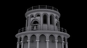 leaning tower 3D model
