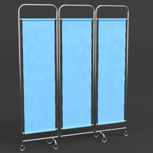 hospital ward privacy screen 3D
