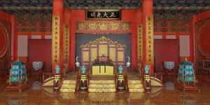 3D palace architecture building model