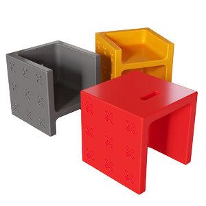 connubia cb1271 crossover pouf 3D model
