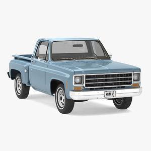 3D vintage pickup truck