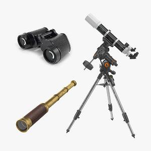 binoculars telescopes 2 3D
