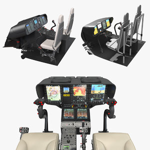 3D model cockpits controls