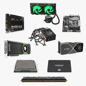 computer components 6 3D model