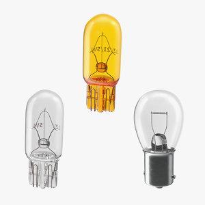 halogen light bulbs 3D model