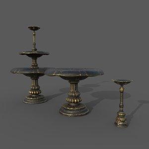 classic fountian 3D model