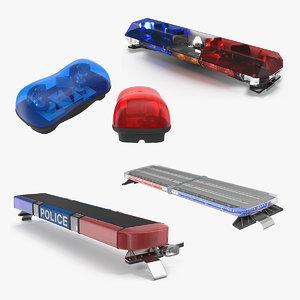 legacy lightbars 3 police light 3D model