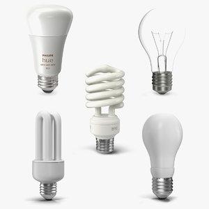light bulbs 4 3D model