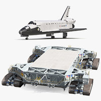 NASA Missile Crawler Transporter Facilities with Space Shuttle Collection