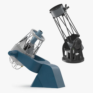 3D observatory telescopes model
