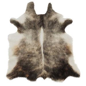 3D wool european rug cowhide