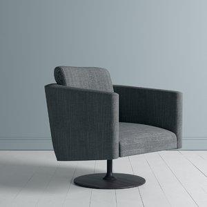3D occasional armchair chair