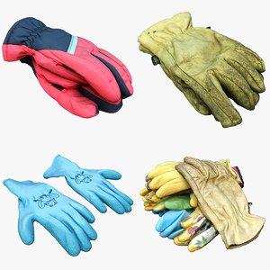 gloves cloth 3D model