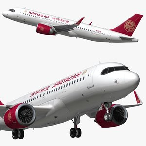 3D airbus a320 juneyao airlines