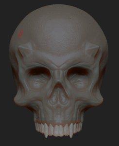 3D model skull uv