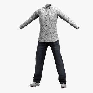 mens clothing 30 shirt 3D model