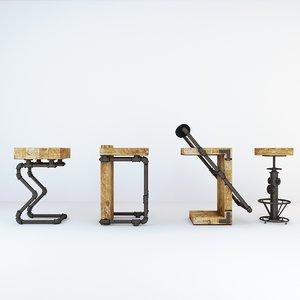 bar stool industrial model