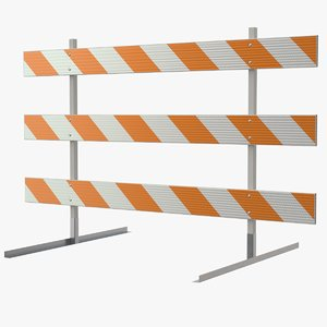 roadworks barricade 3D model
