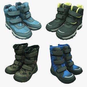 3D winter snow boots