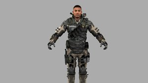 realistic soldier uniform desert model