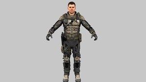 3D model city military