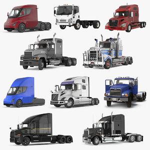 rigged trucks 5 3D