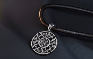 jewelry slavic-aryan equilateral cross 3D