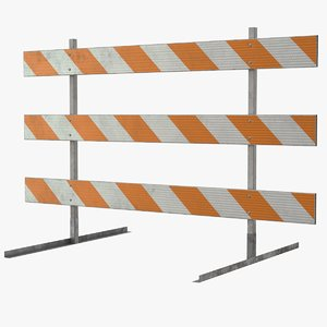 3D roadworks barricade model
