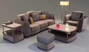 3D model furniture set - decor