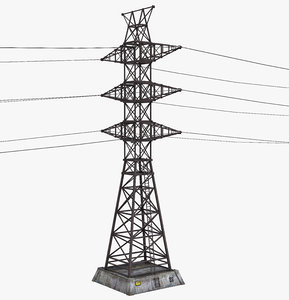 3D model tower electric