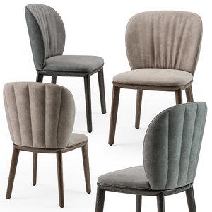 chair wood cattelan 3D model