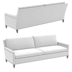 sofa restoration hardware turner 3D model