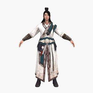 kungfu lady 3D model